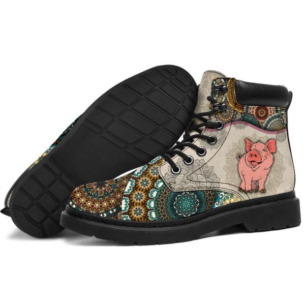 "Pig - Vintage Mandala ASBOOT SKY@ animallovepro dfszd@all-season-boots"" 294034"