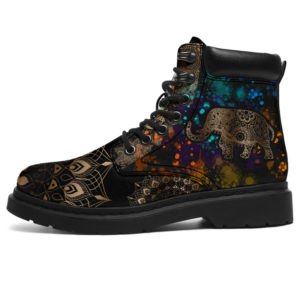 """Elephant Henna With Watercolor AsBoot - TL@ animallovepro hfgh14514@all-season-boots"""" 293940"""