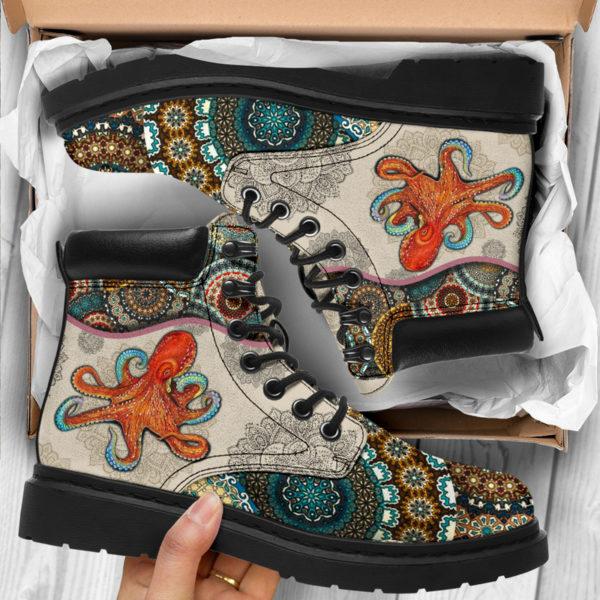 "Octopus - Vintage Mandala ASBOOT@ animallovepro fdgfh@all-season-boots"" 293856"