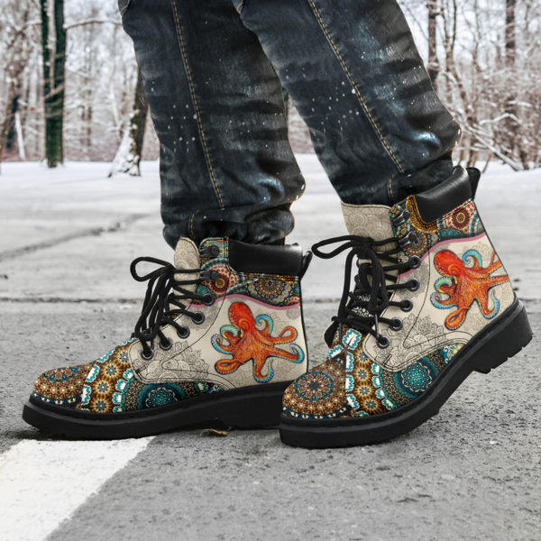 "Octopus - Vintage Mandala ASBOOT@ animallovepro fdgfh@all-season-boots"" 293855"
