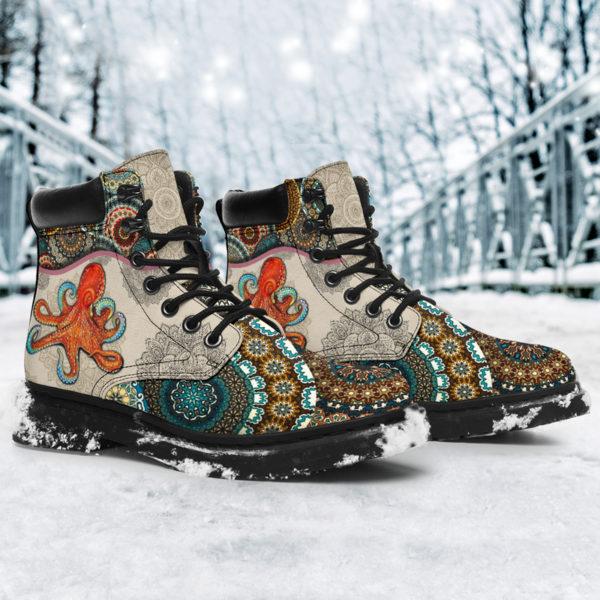 "Octopus - Vintage Mandala ASBOOT@ animallovepro fdgfh@all-season-boots"" 293853"