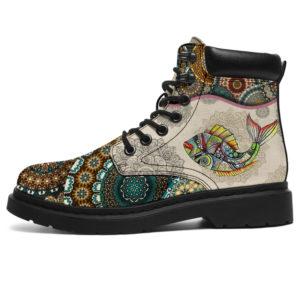 "Fish Art - Vintage Mandala ASBOOT KD@ animallovepro hfgj@all-season-boots"" 293617"
