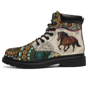 "Horse - Vintage Mandala ASBOOT Icelandic horses KD@ animallovepro FGHJFGJ@all-season-boots"" 293341"