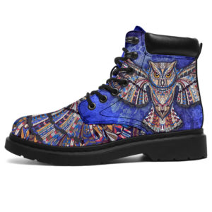 "Owl Wings Pattern Tribal Dreamcatcher ASBOOT - NAL@ animallovepro owltribal426@all-season-boots"" 292378"