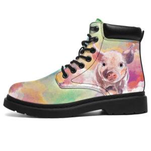 "Pig Sky Watercolor ASBoot@ animallovepro pigwatercolor879@all-season-boots"" 291872"