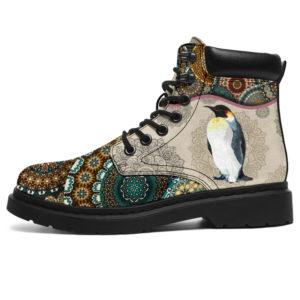 """Penguin - Vintage Mandala ASBOOT SKY@ animallovepro druytyuj@all-season-boots"""" 291826"""