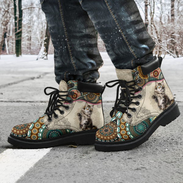 """Maine coons Cat - Vintage Mandala ASBOOT KD@ animallovepro fhfhfgh@all-season-boots"""" 291465"""