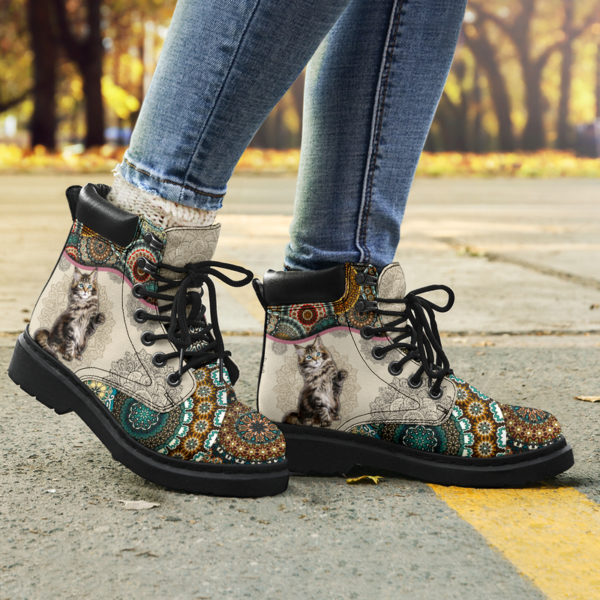 """Maine coons Cat - Vintage Mandala ASBOOT KD@ animallovepro fhfhfgh@all-season-boots"""" 291464"""