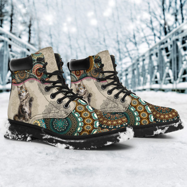 """Maine coons Cat - Vintage Mandala ASBOOT KD@ animallovepro fhfhfgh@all-season-boots"""" 291463"""