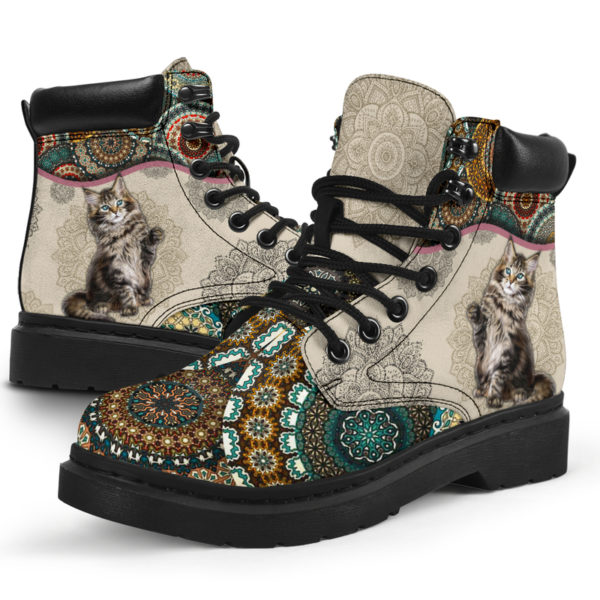 """Maine coons Cat - Vintage Mandala ASBOOT KD@ animallovepro fhfhfgh@all-season-boots"""" 291461"""