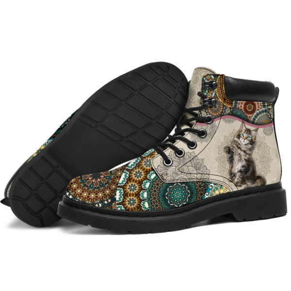"""Maine coons Cat - Vintage Mandala ASBOOT KD@ animallovepro fhfhfgh@all-season-boots"""" 291460"""