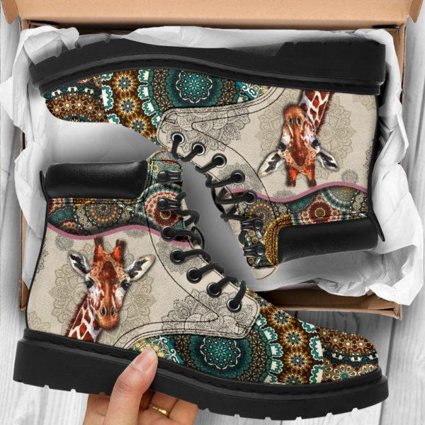 "Giraffe - Vintage Mandala ASBOOT SKY@ animallovepro gjghjgh@all-season-boots"" 291420"
