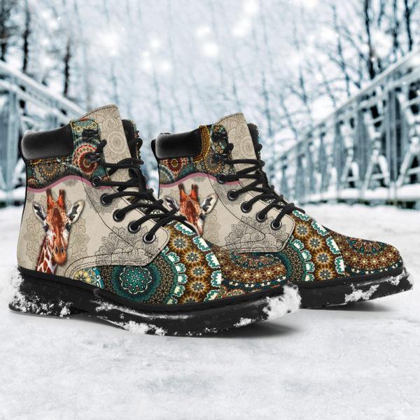 "Giraffe - Vintage Mandala ASBOOT SKY@ animallovepro gjghjgh@all-season-boots"" 291417"