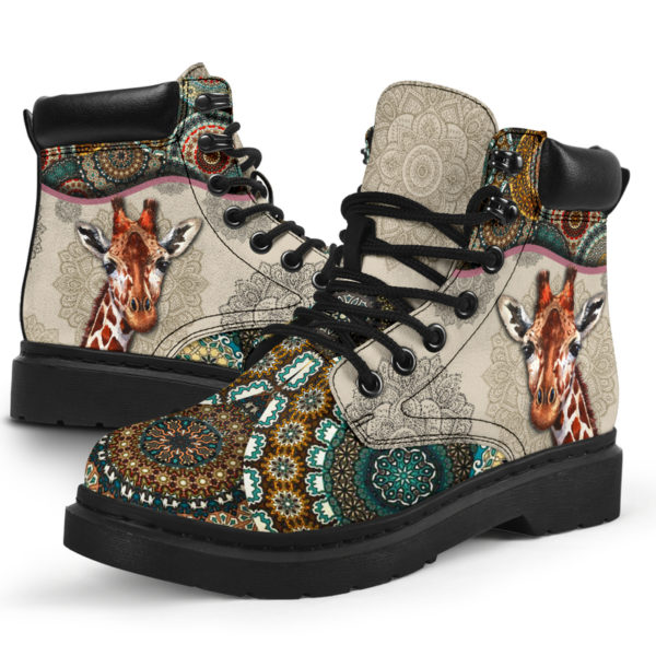 "Giraffe - Vintage Mandala ASBOOT SKY@ animallovepro gjghjgh@all-season-boots"" 291415"
