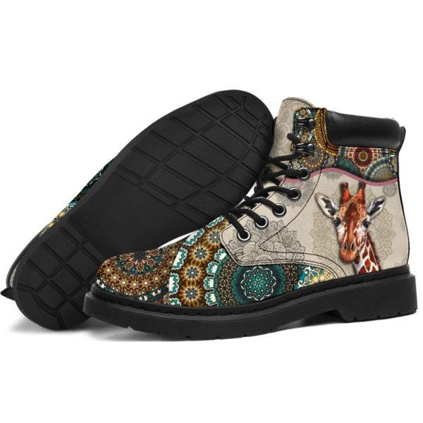 "Giraffe - Vintage Mandala ASBOOT SKY@ animallovepro gjghjgh@all-season-boots"" 291414"