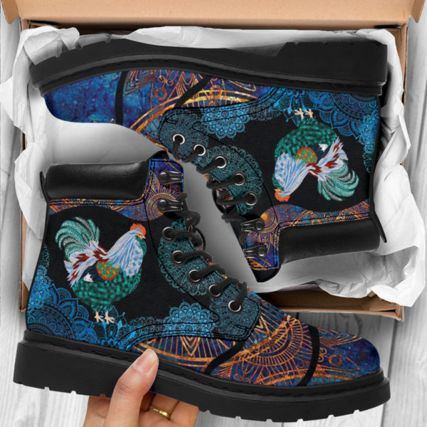 """Chicken flower mandala as boots LQT@ animallovepro Chickenfghfjeew@all-season-boots"""" 290868"""