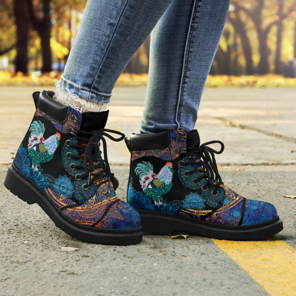 """Chicken flower mandala as boots LQT@ animallovepro Chickenfghfjeew@all-season-boots"""" 290866"""