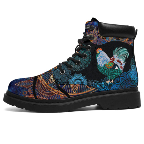 """Chicken flower mandala as boots LQT@ animallovepro Chickenfghfjeew@all-season-boots"""" 290860"""