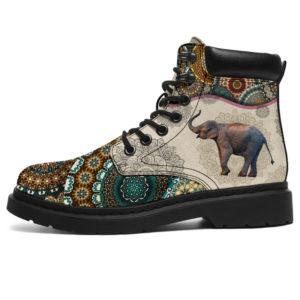 """Elephant - Vintage Mandala ASBOOT@ animallovepro sdsgdh@all-season-boots"""" 290814"""