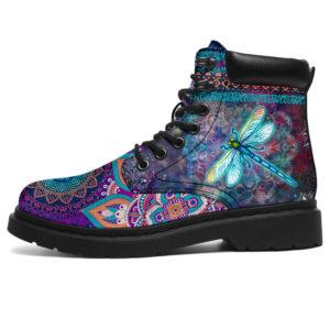 """Dragonfly Galaxy Mandala Boot SKY@ animallovepro df454s@all-season-boots"""" 290584"""