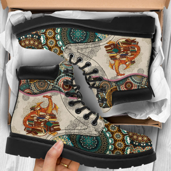 "Dragon - Vintage Mandala ASBOOT@ animallovepro VBNMBNHM@all-season-boots"" 290408"