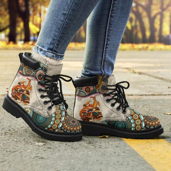 "Dragon - Vintage Mandala ASBOOT@ animallovepro VBNMBNHM@all-season-boots"" 290406"