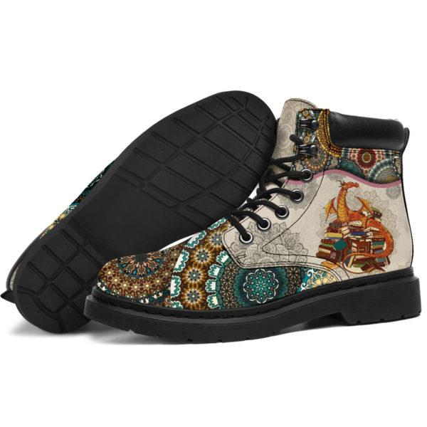 "Dragon - Vintage Mandala ASBOOT@ animallovepro VBNMBNHM@all-season-boots"" 290402"