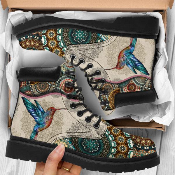 "Hummingbird - Vintage Mandala ASBOOT SKY@ animallovepro FDHFGJH@all-season-boots"" 290270"