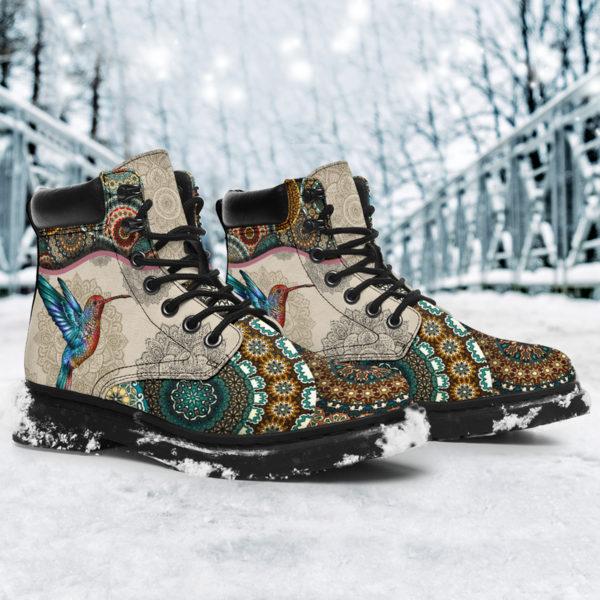 "Hummingbird - Vintage Mandala ASBOOT SKY@ animallovepro FDHFGJH@all-season-boots"" 290267"