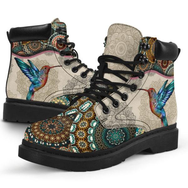 "Hummingbird - Vintage Mandala ASBOOT SKY@ animallovepro FDHFGJH@all-season-boots"" 290265"