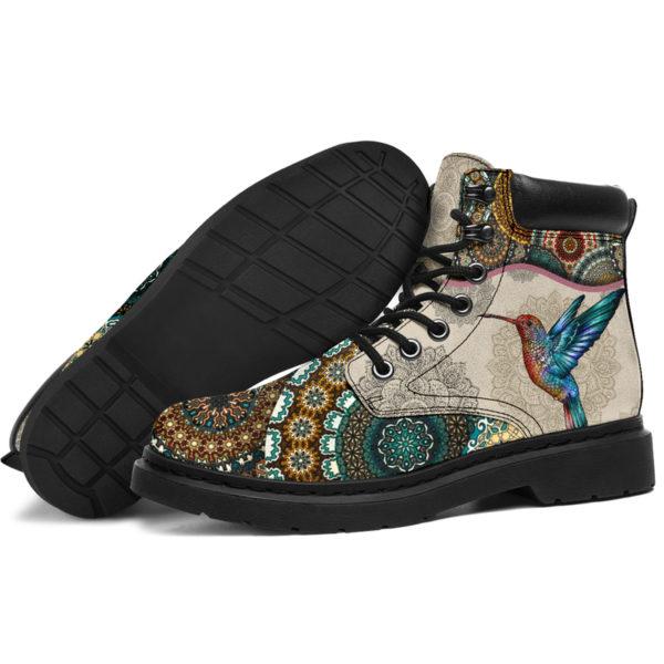 "Hummingbird - Vintage Mandala ASBOOT SKY@ animallovepro FDHFGJH@all-season-boots"" 290264"