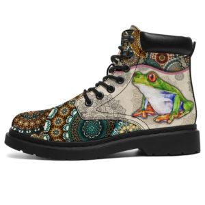"""Frog - Vintage Mandala ASBOOT@ animallovepro dxgdh@all-season-boots"""" 289802"""