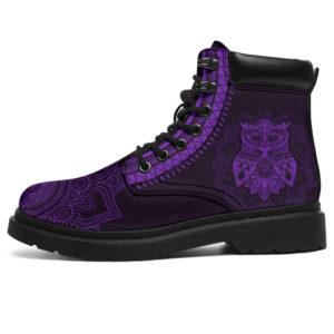 "Owl mandala asboots purple 2@ animallovepro Owlty47737y@all-season-boots"" 289388"