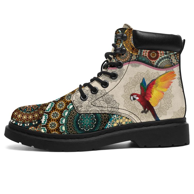 "Parrots - Vintage Mandala ASBOOK SKY@ animallovepro DGDFHG@all-season-boots"" 289112"