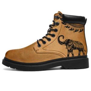 """elephant mandala Round Asboots@ animalaholic elephant545@all-season-boots"""" 288744"""