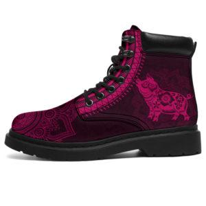 "pig mandala asboots pink@ animalaholic pigman778@all-season-boots"" 288652"
