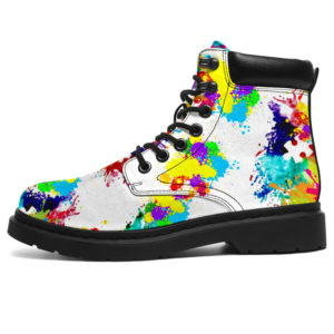 "Autism Awareness Sneakers Shoe Colorful All season Boots@ abigboomusa Autism Awareness Sneakers Shoe Colorful All season Boots@all-season-boots"" 288007"