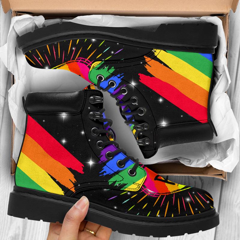 "LGBT Pride Boots Limited@ abigboomusa LGBT@all-season-boots"" 287969"