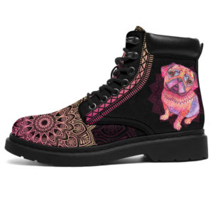 """PUG LEATHER BOOT@ zolagifts pugboot@all-season-boots"""" 284234"""