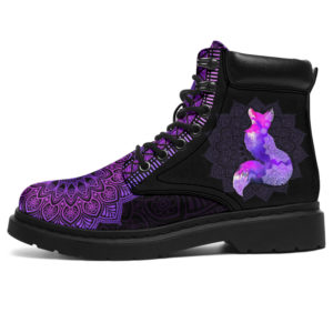 "FOX LEATHER BOOT@ zolagifts foxpurpleneon@all-season-boots"" 283958"