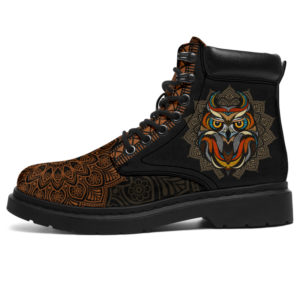 """OWL LEATHER BOOT@ zolagifts owlshoes@all-season-boots"""" 283543"""