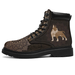 """BULL TERRIER LEATHER BOOT@ zolagifts bullterrier@all-season-boots"""" 283451"""