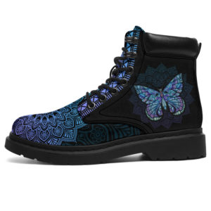 """BUTTERFLY LEATHER BOOT@ zolagifts butterflies@all-season-boots"""" 283359"""
