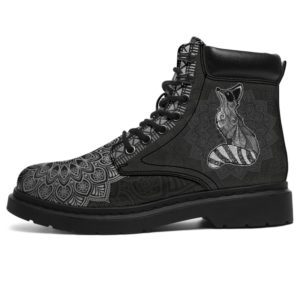 "RACCOON LEATHER BOOT@ zolagifts raccoon@all-season-boots"" 283313"