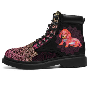 "DACHSHUND LEATHER BOOT@ zolagifts dachshundboot@all-season-boots"" 282025"
