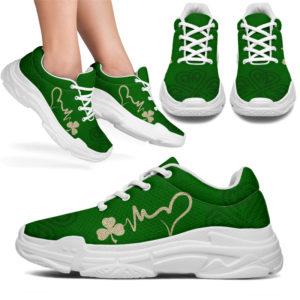 "Irish shamrock Heartbeat chunky sneakers@ springlifepro irishhbchu9384@chunky-sneakers"" 273683"