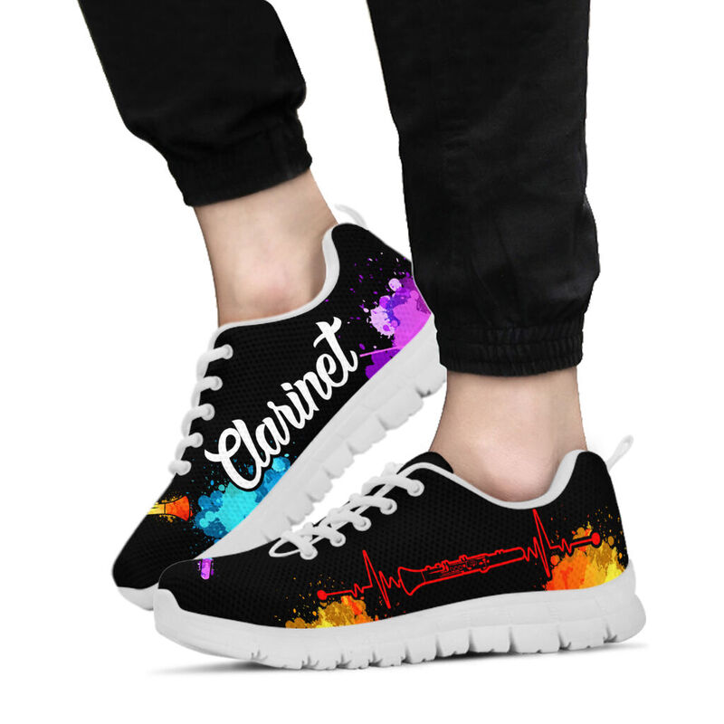 CLARINET ART WATERCOLOR SHOES@ springlifepro clariart67636@sneakers 273055