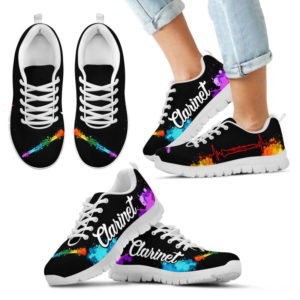 CLARINET ART WATERCOLOR SHOES@ springlifepro clariart67636@sneakers 273053