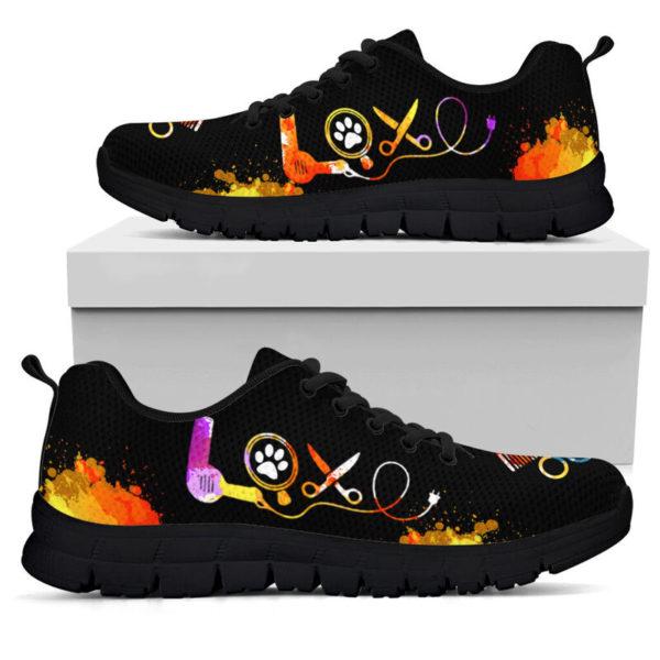 DOG GROOMER LOVE ART SHOES@ springlifepro doggro948@sneakers 270217