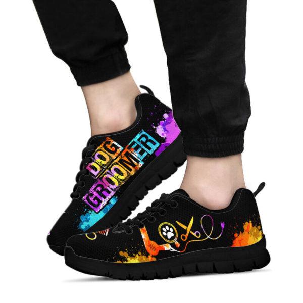 DOG GROOMER LOVE ART SHOES@ springlifepro doggro948@sneakers 270216